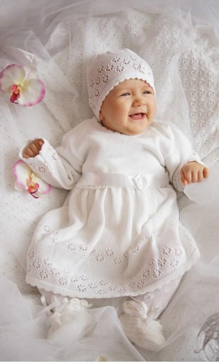 b7c6698128 Sukienka biała do chrztu z czapeczką