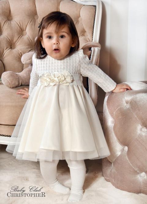 d5f6098f07 Sukienka do chrztu w kolorze kremowym ...