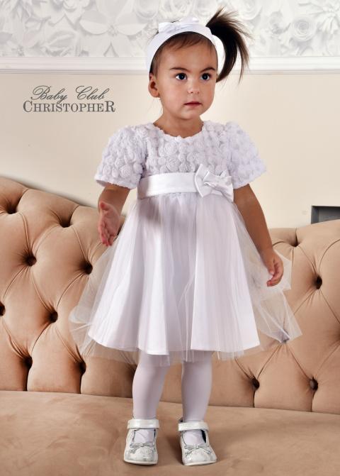 08b1e851ef Sukienka biała lub ecru z krótkim rękawkiem   Christopher