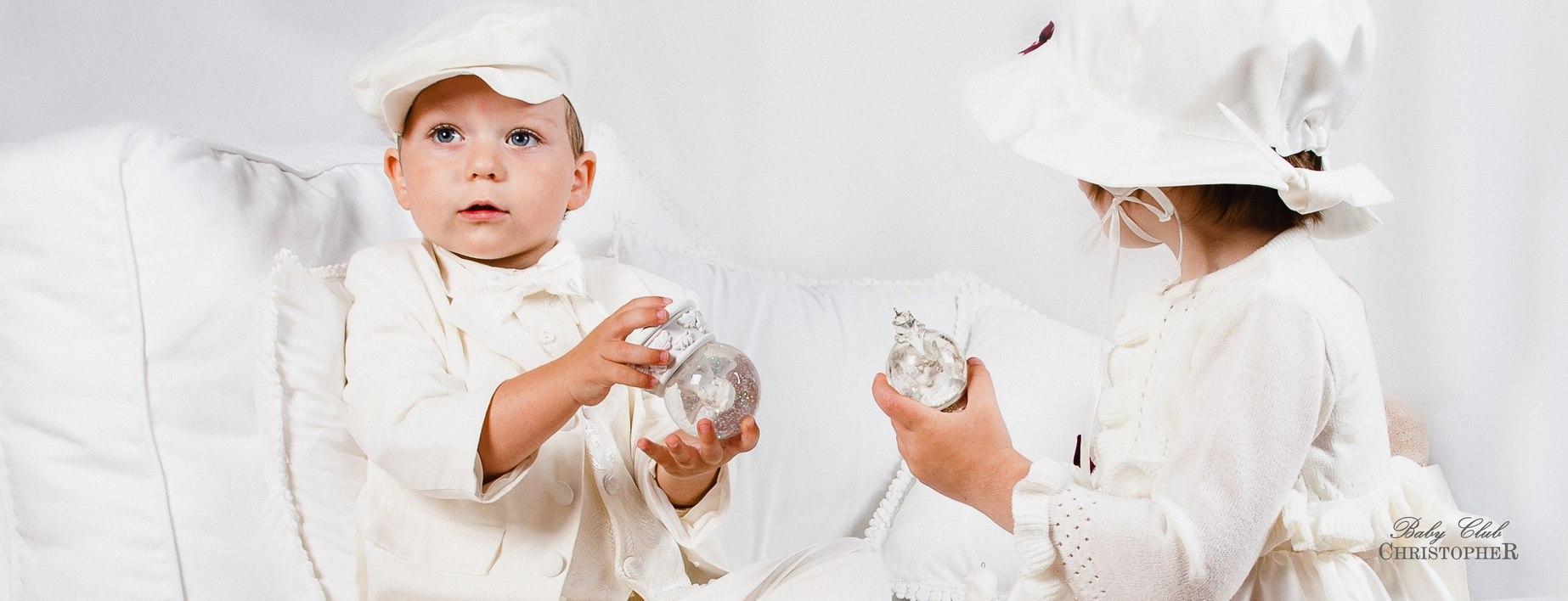Ubranka do chrztu dla niemowląt